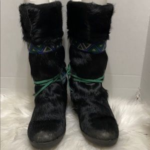 Tecnica Fur Boots Snow Ski Made In Italy Womens